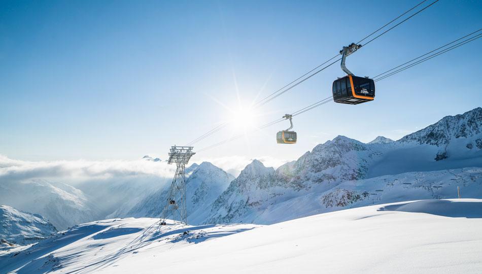 Skifahren im Stubaital